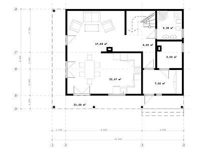 План каркасного дома для проекта 13