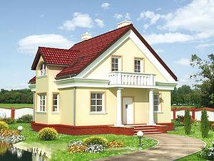 Строительство домов из блока и кирпича. Проект Т17