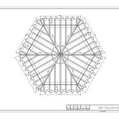 проектирование домов, план стропильной системы