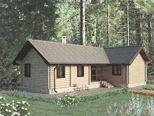 строительство домов из оцилиндрованного бревна. ОБ11
