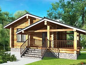 строительство домов из оцилиндрованного бревна. ОБ1