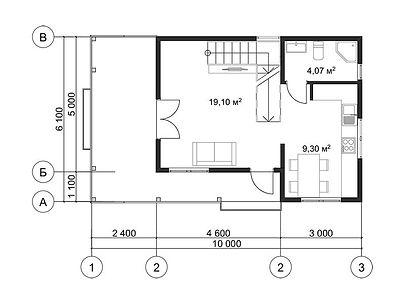 План каркасного дома для проекта 10