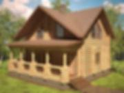 строительство домов из оцилиндрованного бревна. ОБ17
