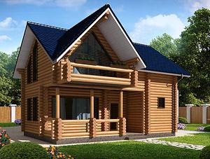 строительство домов из оцилиндрованного бревна. ОБ8