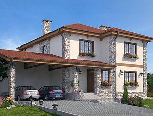 Строительство домов из блока и кирпича. Проект Т21