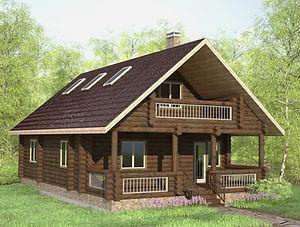 строительство домов из оцилиндрованного бревна. ОБ16