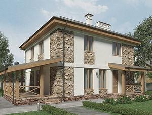 Строительство домов из блока и кирпича. Проект Т20