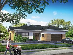 Строительство домов из блока и кирпича. Проект Т1