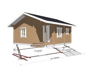 строительство дачных домиков, строительство дачных домов. проект Д5