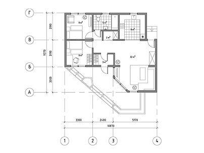 План каркасного дома для проекта 17