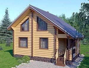 строительство домов из оцилиндрованного бревна. ОБ9
