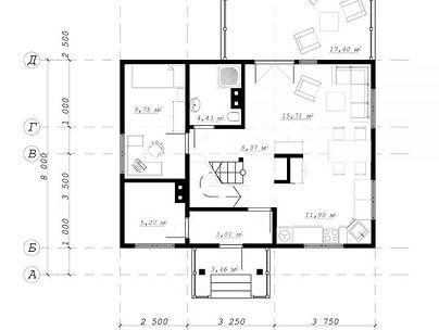 План каркасного дома для проекта 01