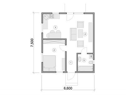 План каркасного дома для проекта 18