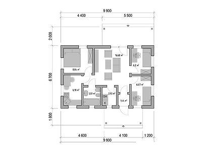 План каркасного дома для проекта 07