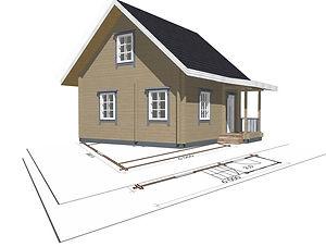 строительство дачных домиков, строительство дачных домов. проект Д10