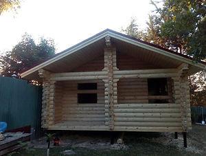 Строительство домов и баньизоцилиндрованного бревна