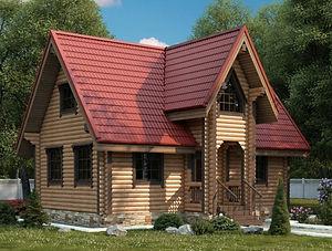 строительство домов из оцилиндрованного бревна. ОБ7