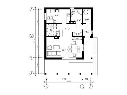 План каркасного дома для проекта 15