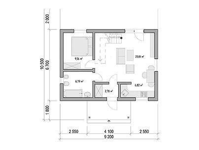 План каркасного дома для проекта 08