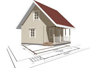 строительство дачных домиков, строительство дачных домов. проект Д6