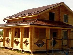 Услуга строительство домов из профилированного бруса