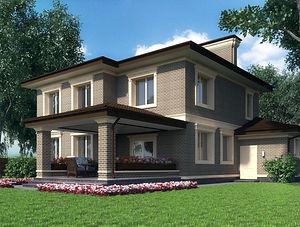 Строительство домов из блока и кирпича. Проект Т23