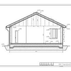 проектирование домов, разрез