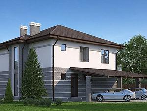 Строительство домов из блока и кирпича. Проект Т22
