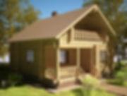 строительство домов из оцилиндрованного бревна. ОБ12