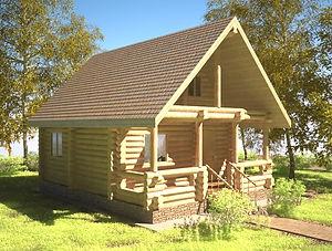 строительство домов из оцилиндрованного бревна. ОБ2