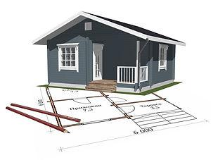 строительство дачных домиков, строительство дачных домов. проект Д2.