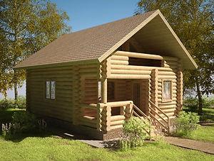 строительство домов из оцилиндрованного бревна. ОБ5