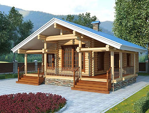 строительство домов из оцилиндрованного бревна. ОБ15