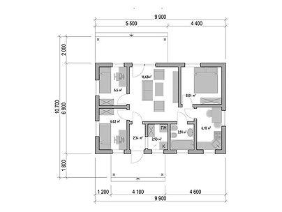 План каркасного дома для проекта 06