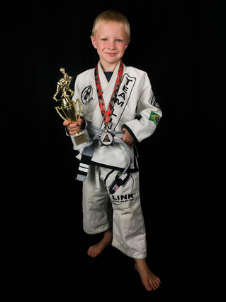 Team Link Northampton's youngest gold medalist - Parker Dion