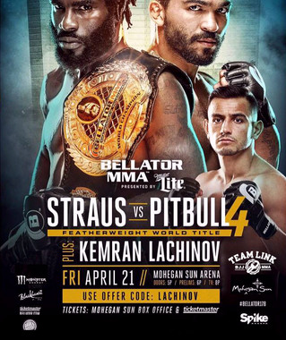 Team Link's Kemran Lachinov fighting at Bellator 178