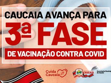 Caucaia inicia a terceira fase de vacinação contra Covid