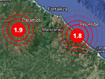 Tremores de terra são registrados em Paramoti e Beberibe