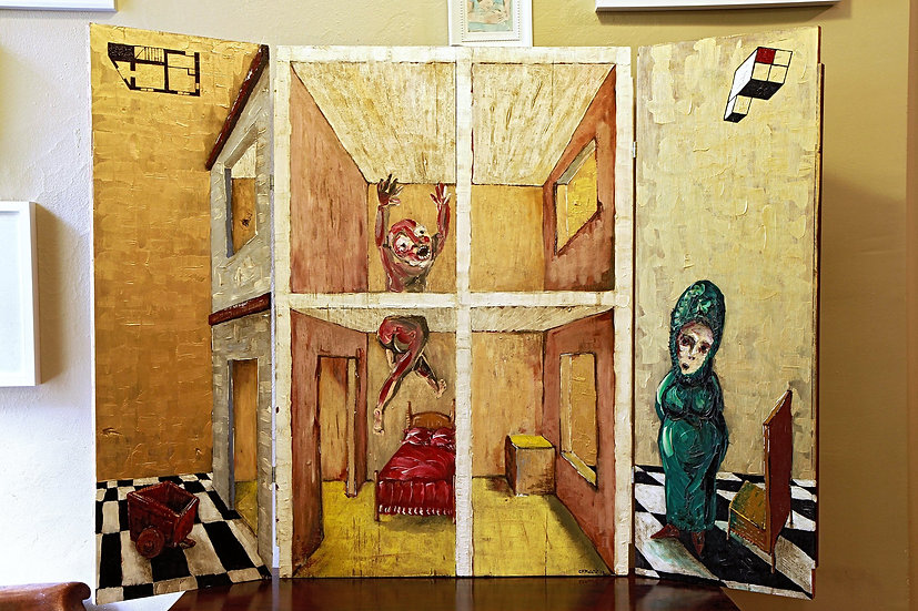 Triptych Surreal Paintings