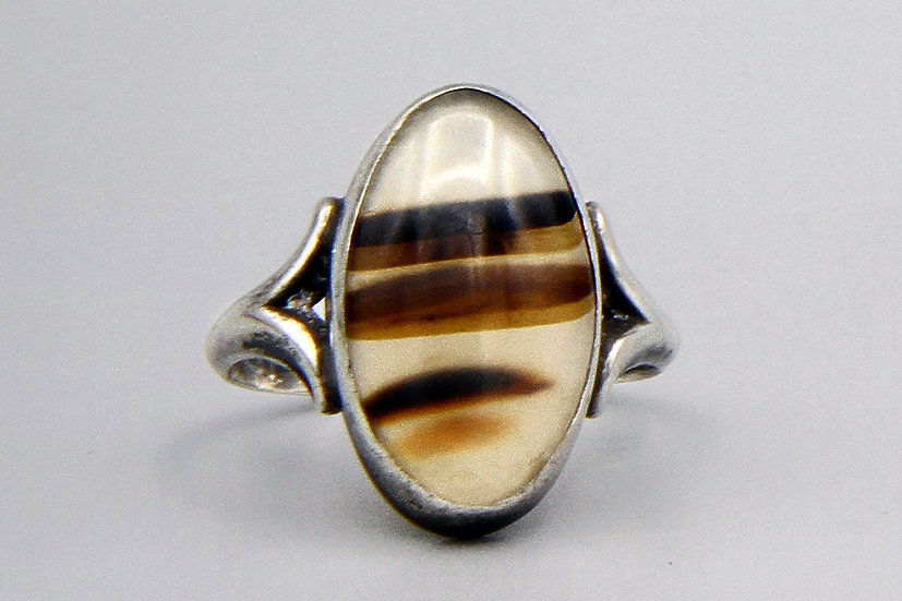 banded agate ring