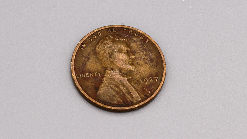 1927 Circulated 1 Cent Lincoln And Wheat Penny USA Coin