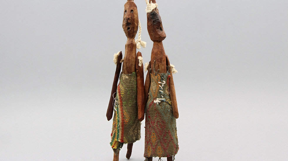 Two Wooden Dolls