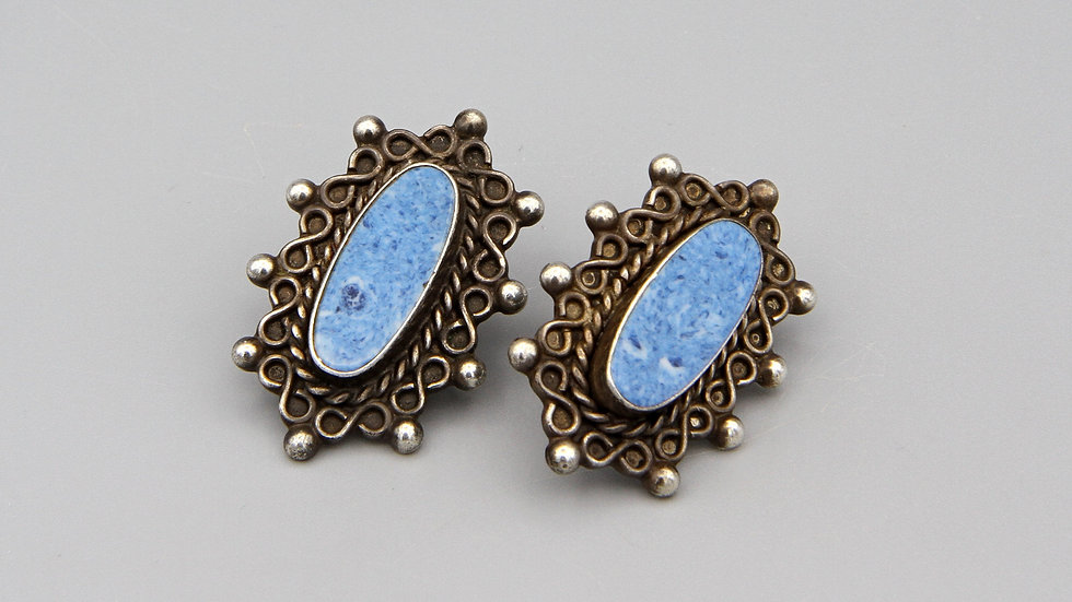 sterling and blue lapis earrings