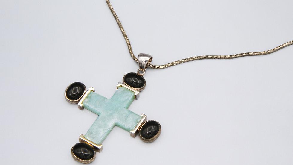 Jade And Onyx Cross