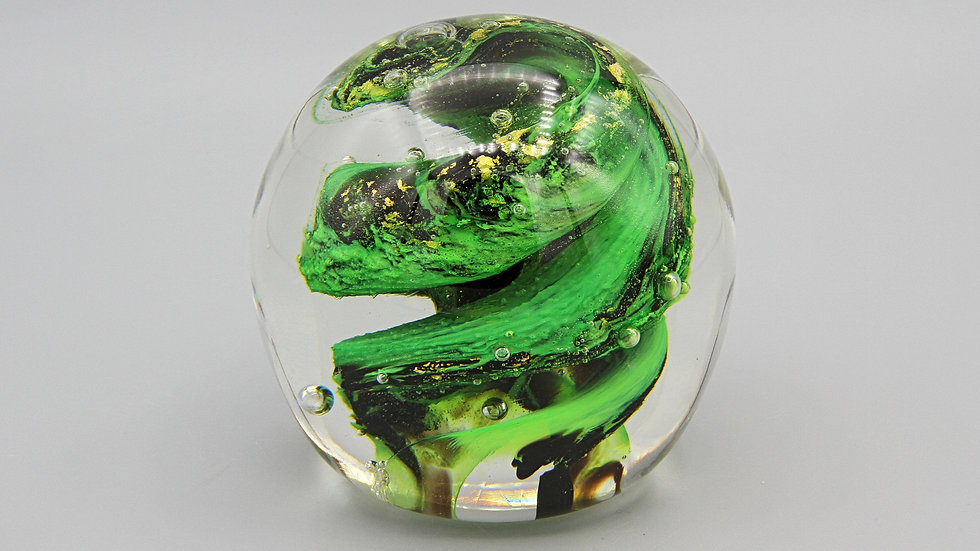 Michael Nourot Glass Art Paperweight