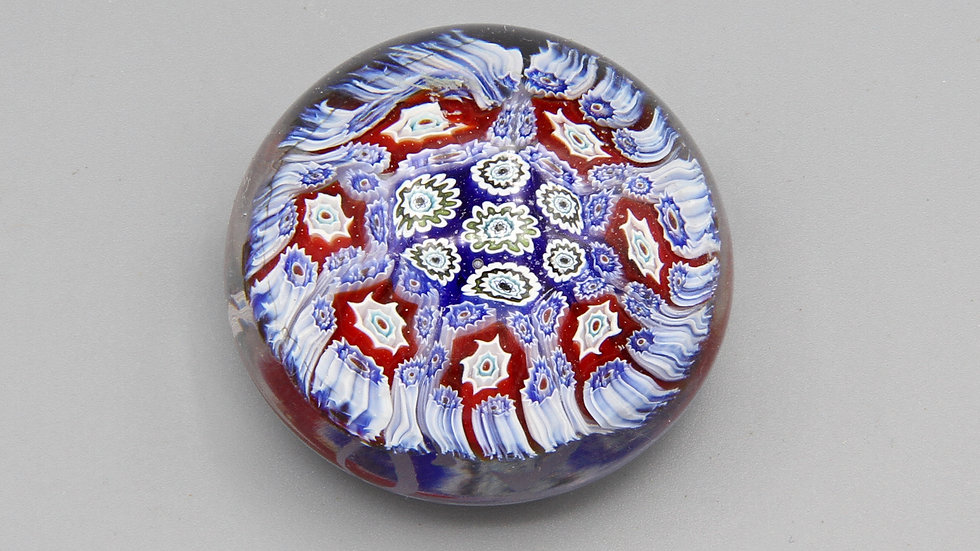 Ultra Light Purple Millefiori Glass Art Paperweight ALT Murano Italy Vintage