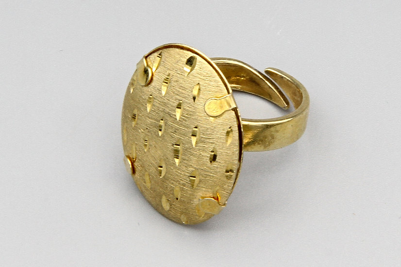 Dijous Italy Gold Over Sterling Ring