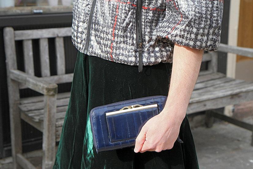 ultramarine blue leather wallet purse