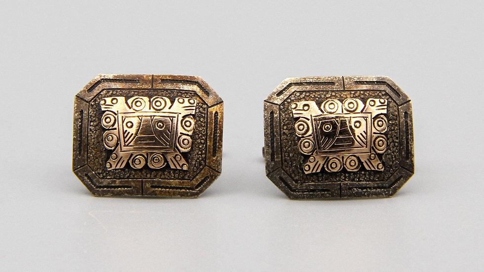 Inca Inti God Mask Cufflinks
