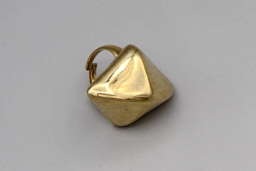 18Kt Gold Plated Domed Pyramid Ring